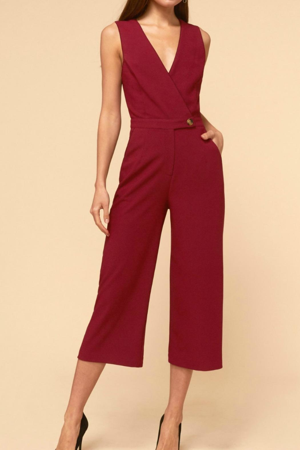 Adelyn Rae Aries Culottes - Front Cropped Image