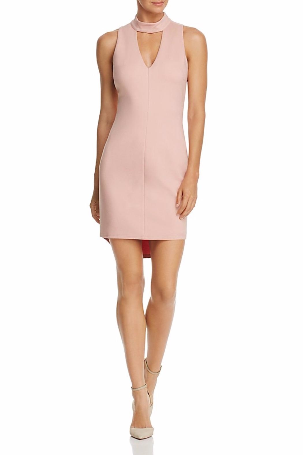 Adelyn Rae Blush Keyhole Dress - Main Image