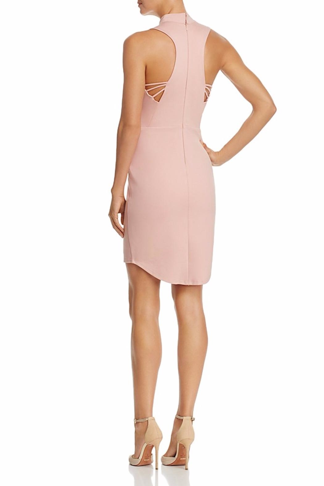 Adelyn Rae Blush Keyhole Dress - Front Full Image