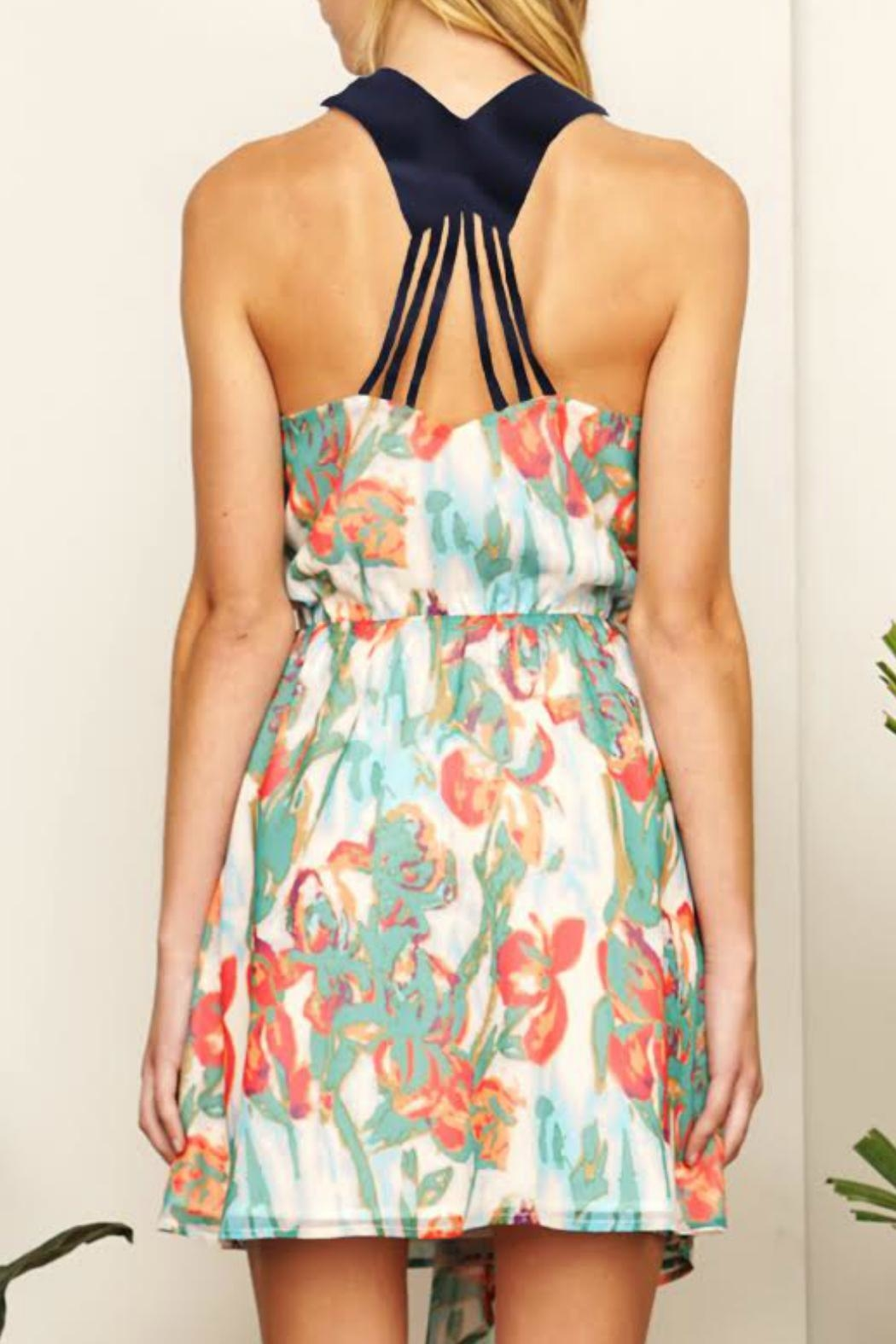 Adelyn Rae Mallory Printed Dress - Front Full Image