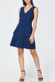 Adelyn Rae Navy Scalloped Dress - Product Mini Image