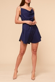 Adelyn Rae Navy Silky Dress - Product Mini Image
