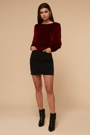 Adelyn Rae Stella Blouse Wine - Product Mini Image