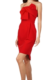 Adelyn Rae Strapless Twist Dress - Front cropped