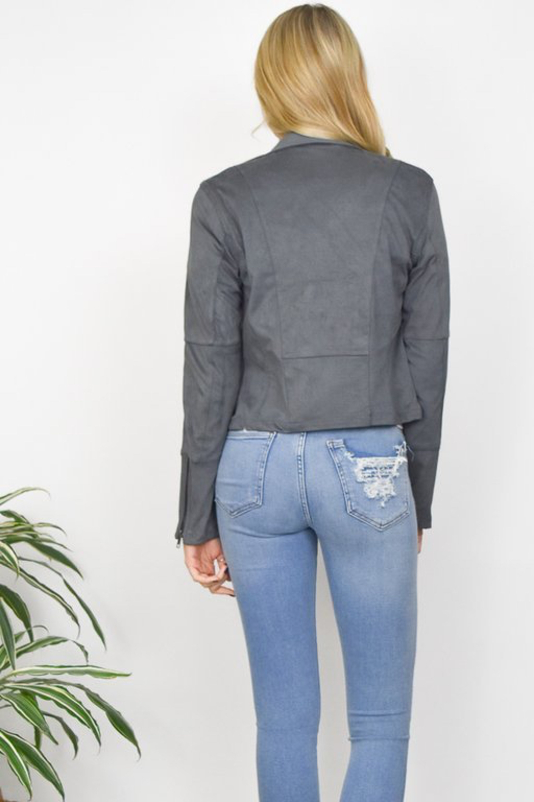 Gentle Fawn Adera Suede Moto Jacket - Front Full Image