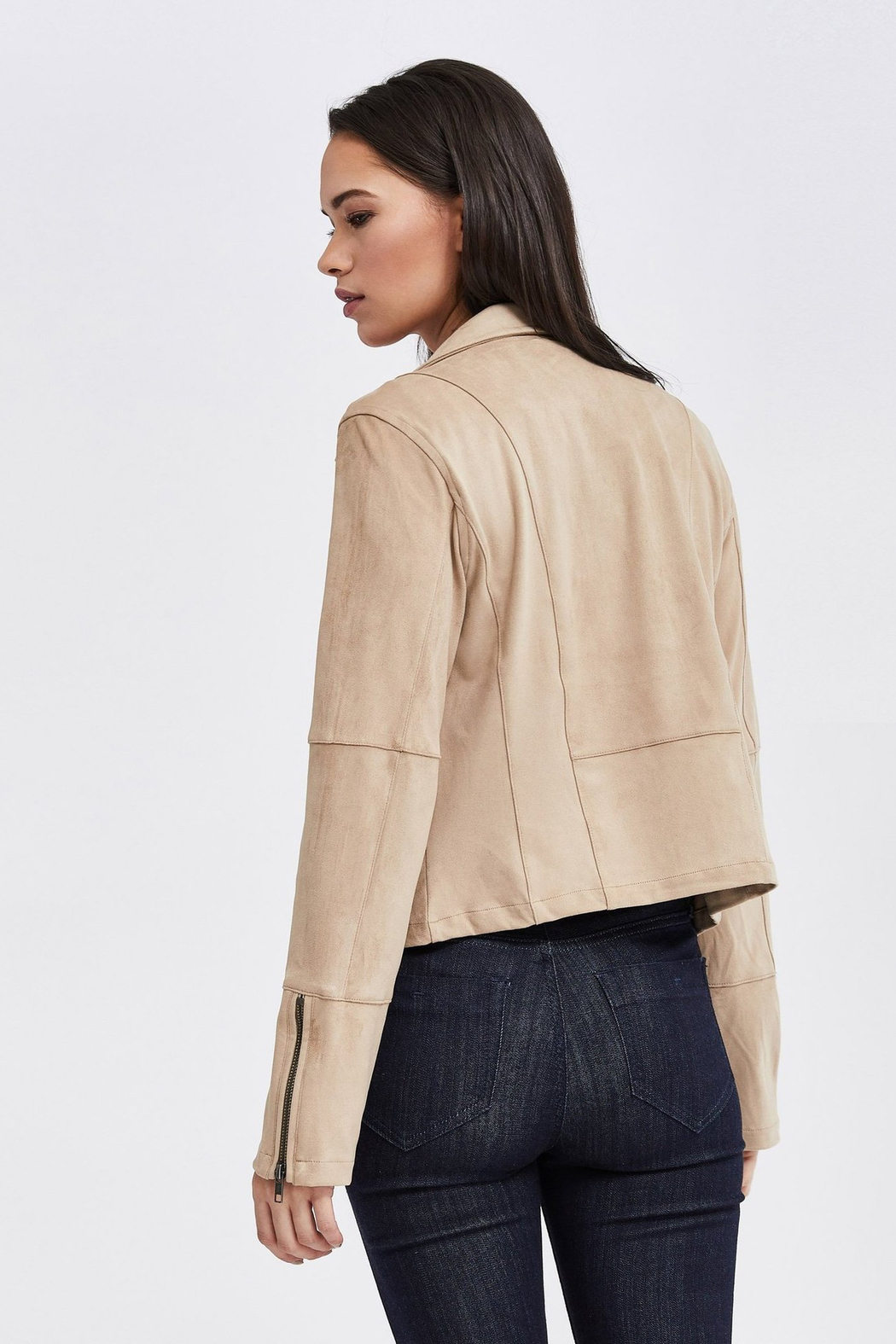 Gentle Fawn Adera Suede Moto Jacket - Side Cropped Image