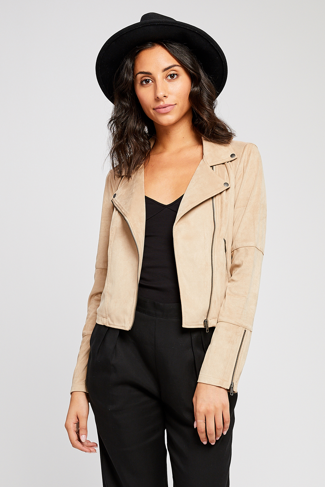 Gentle Fawn Adera Suede Moto Jacket - Back Cropped Image