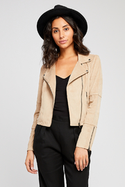 Gentle Fawn Adera Suede Moto Jacket - Back cropped