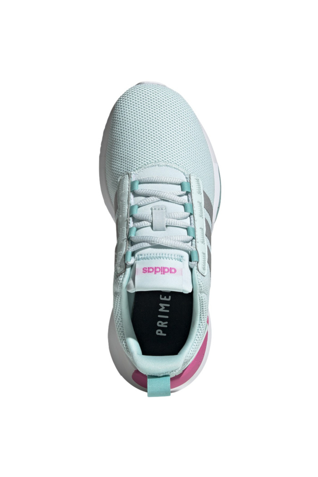 adidas Adidas Girls Racer TR21K in HALO MINT/SILVER MET./SCREAMING PINK - Front Full Image