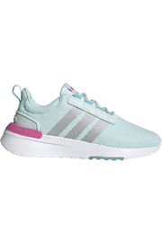 adidas Adidas Girls Racer TR21K in HALO MINT/SILVER MET./SCREAMING PINK - Front cropped