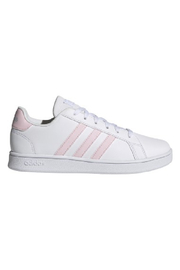 adidas Adidas Kids Grand Court in Future White/Clear Pink/Halo Blue - Front cropped