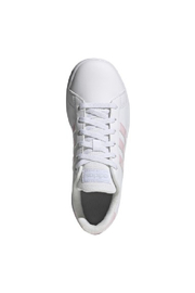adidas Adidas Kids Grand Court in Future White/Clear Pink/Halo Blue - Front full body