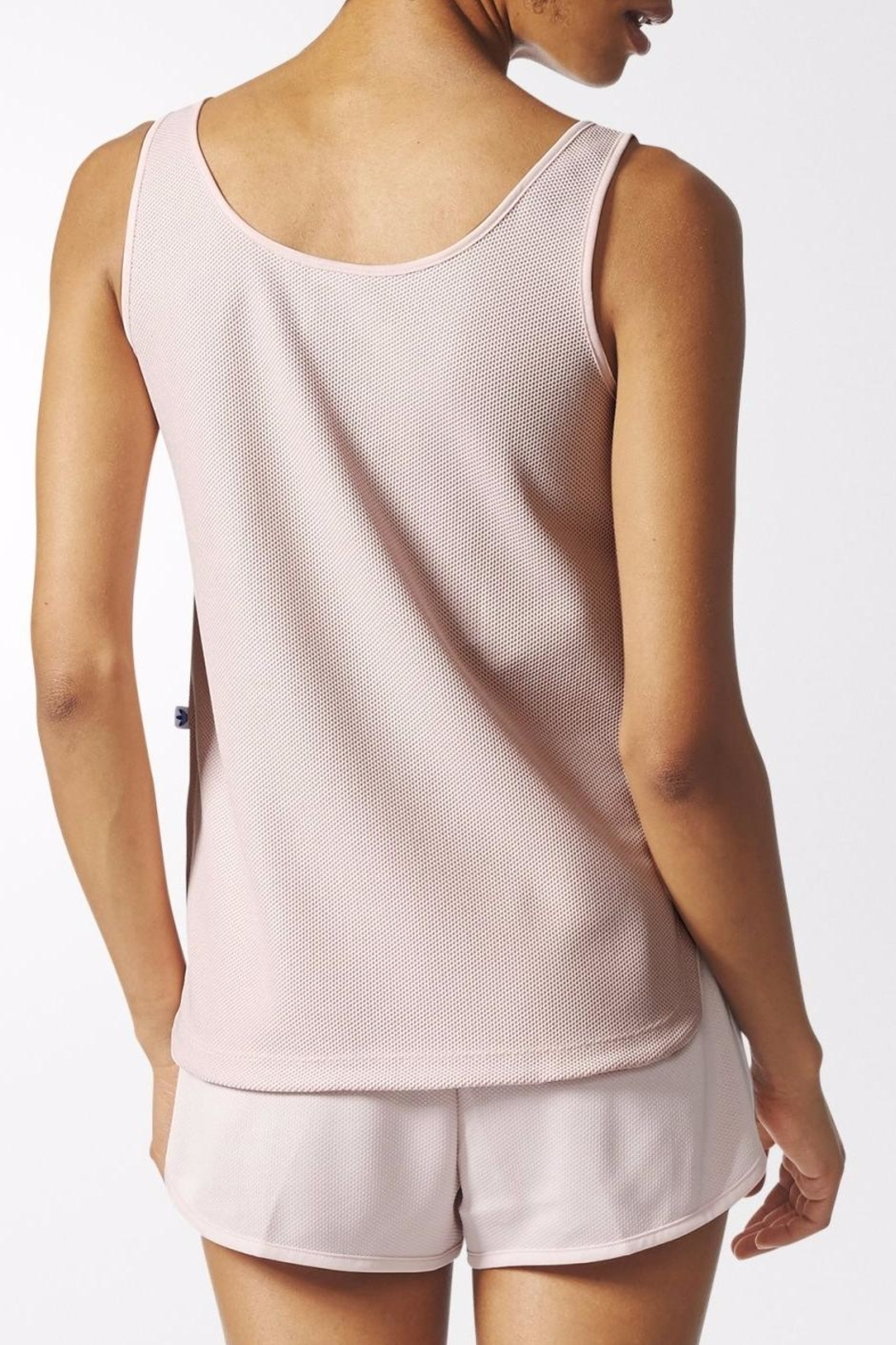 adidas Trefoil Crop Tank Top - Side Cropped Image