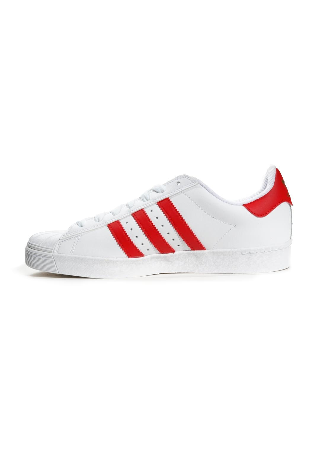 adidas White/red Superstar Adidas - Front Full Image