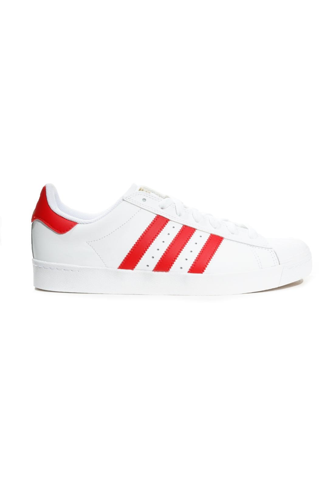 adidas White/red Superstar Adidas - Front Cropped Image