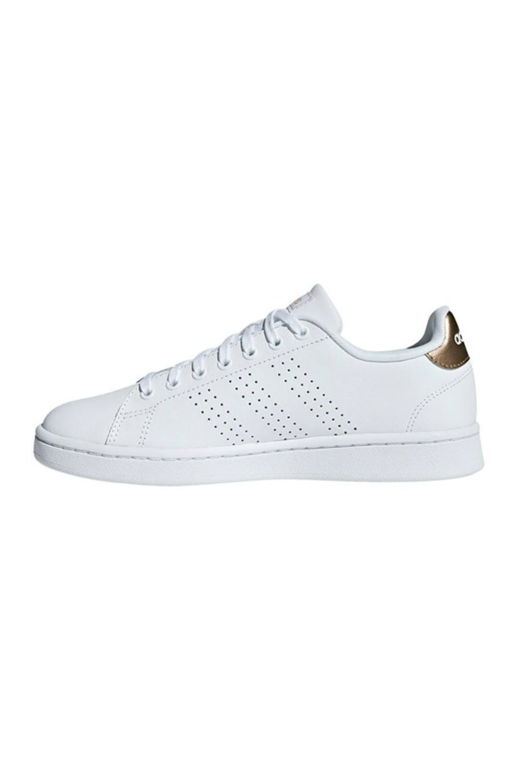 adidas Adidas Women's Advantage in Cloud White/Copper Metallic - Side Cropped Image