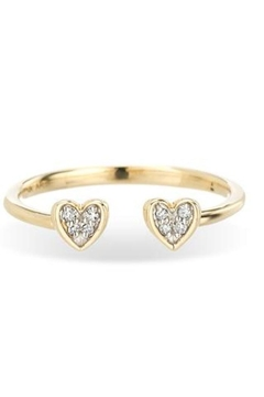 Adina Reyter Open-Pave Folded-Heart Ring - Alternate List Image