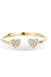 Adina Reyter Open-Pave Folded-Heart Ring - Product Mini Image