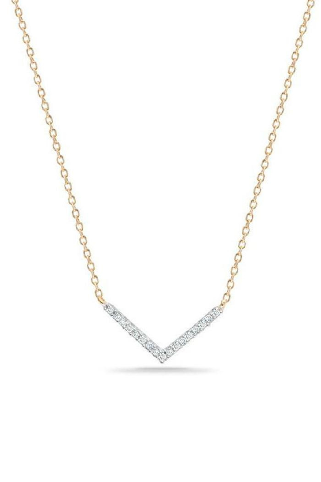 Adina Reyter Pave Bar Necklace - Front Cropped Image