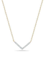 Adina Reyter Pave Bar Necklace - Front cropped