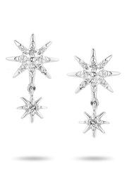 Adina Reyter Pave-Starburst-Drop Posts Silver - Product Mini Image