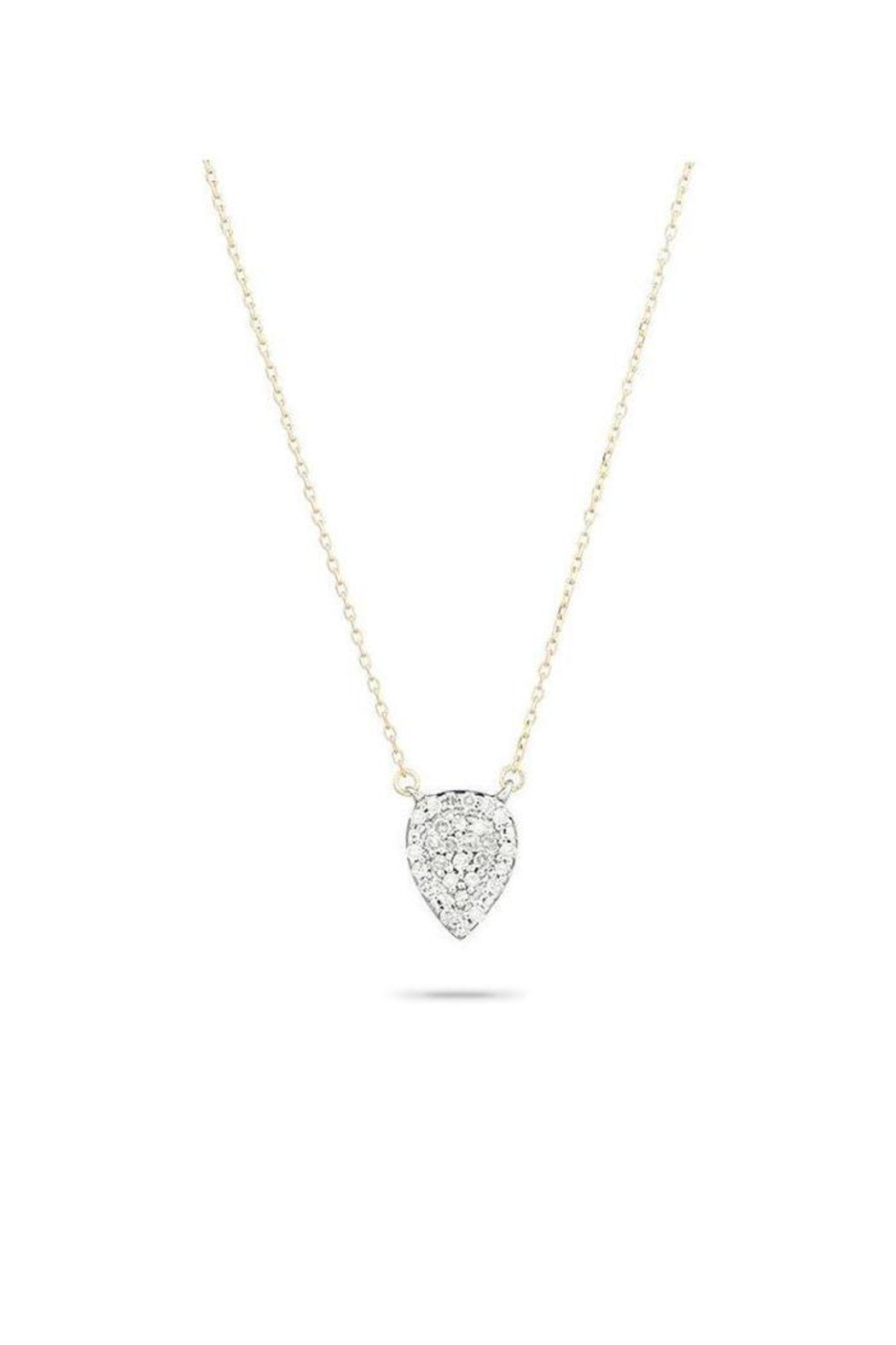 Adina Reyter Pave Teardrop Necklace - Front Cropped Image