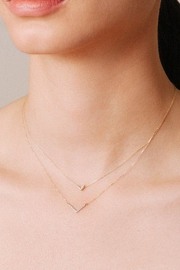 Adina Reyter Tiny Pave V-Necklace - Front full body