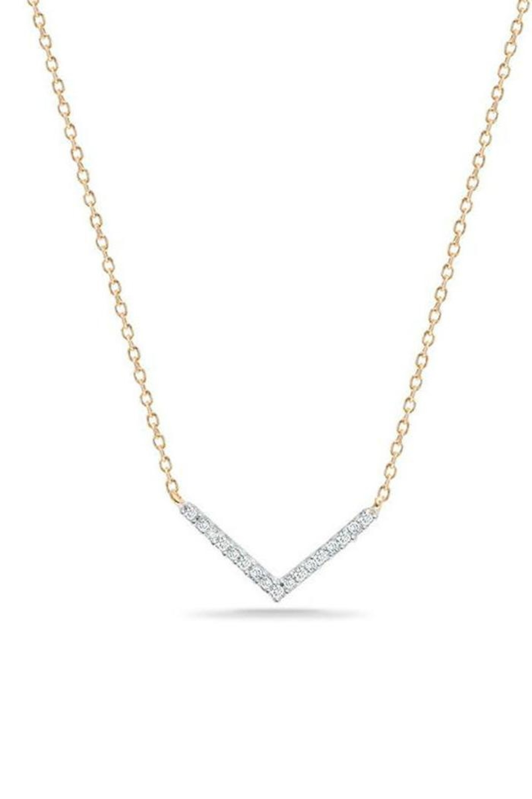 Adina Reyter Tiny Pave V-Necklace - Main Image