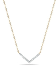 Adina Reyter Tiny Pave V-Necklace - Front cropped