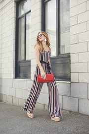 Forest Lily Adj Strap Jumpsuit with Tie Belt - Product Mini Image
