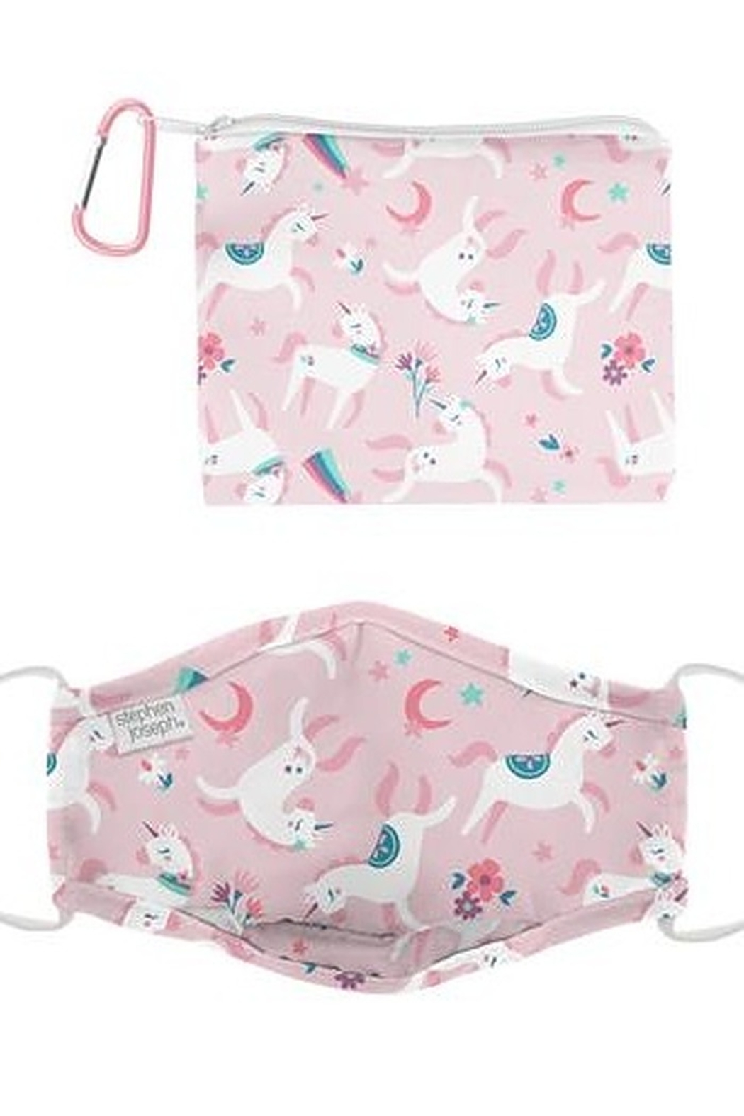Stephen Joseph Adjustable Filter Pocket Mask With Zipper Pouch - Front Cropped Image