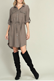 Mittoshop Adjustable waistline shirt dress - Product Mini Image