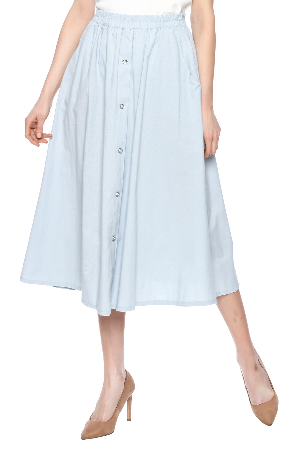 adolfo cotton a line maxi skirt from new jersey by covered