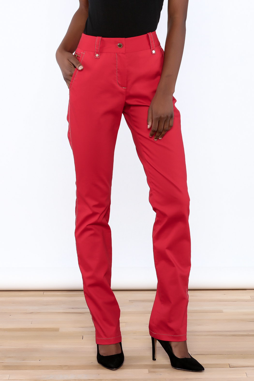 Adolfo Dominguez Straight Leg Jeans - Front Cropped Image