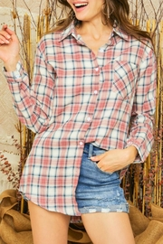 Adora Ally Plaid Shirt - Product Mini Image