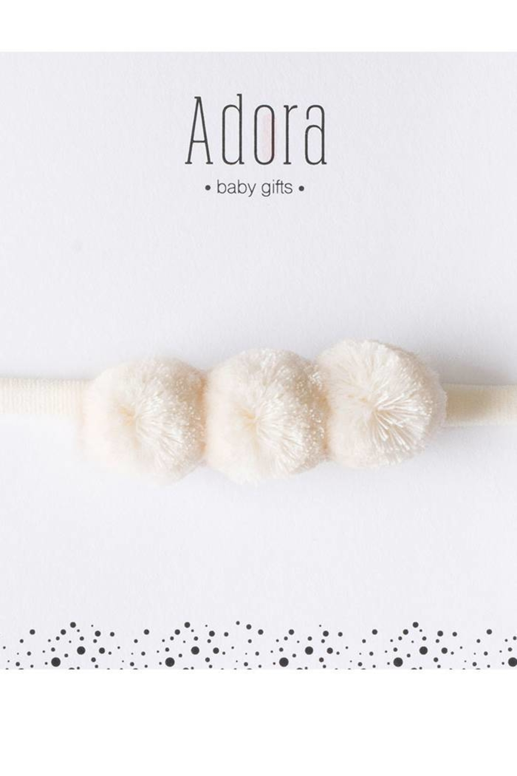 Adora Baby Gift Set Mini Pompom Suede Headband for Girls Newborn - Front Cropped Image