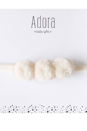 Adora Baby Gift Set Mini Pompom Suede Headband for Girls Newborn - Front cropped