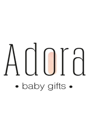 Adora Baby Grey Circle Gift Set For Boys Newborn(Hat + Pacifier Clip) - Back cropped