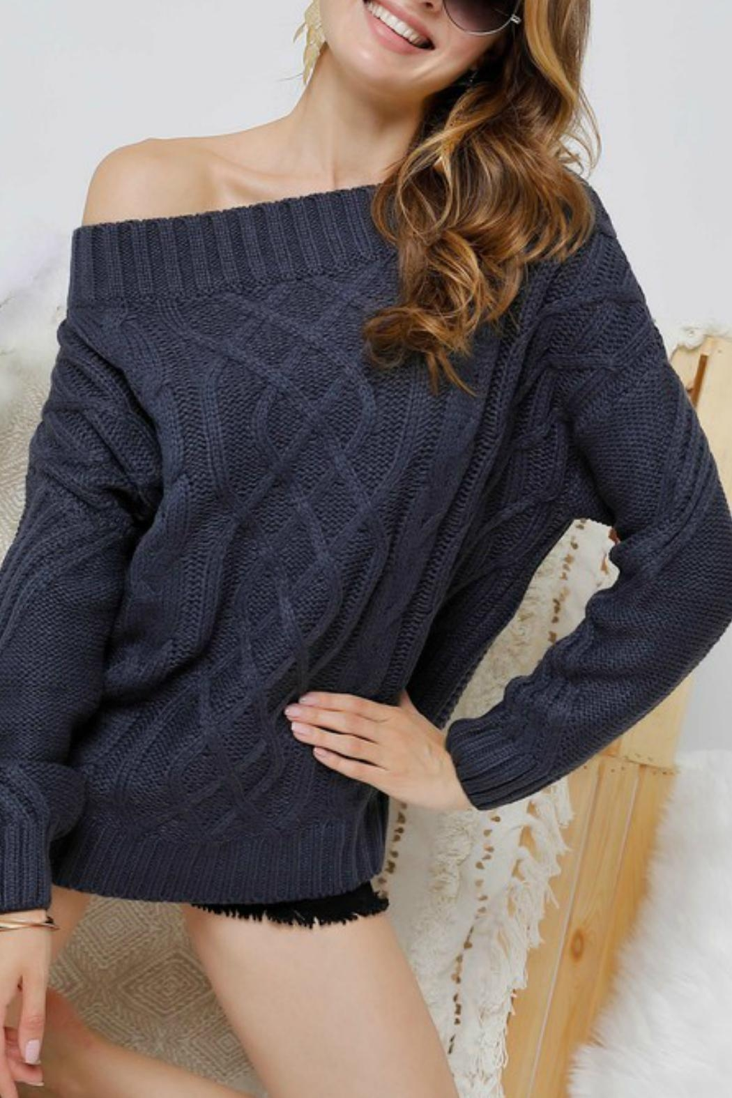 Adora Bailey Off The Shoulder Sweater - Side Cropped Image