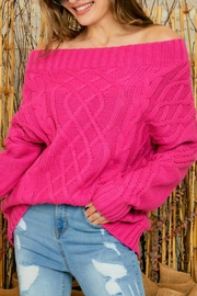 Adora Bailey Off The Shoulder Sweater - Product Mini Image
