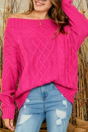 Adora Bailey Off The Shoulder Sweater - Front full body