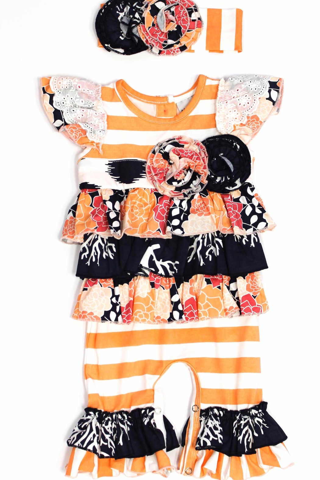 Adora-bay Peachy Keen Romper - Front Cropped Image