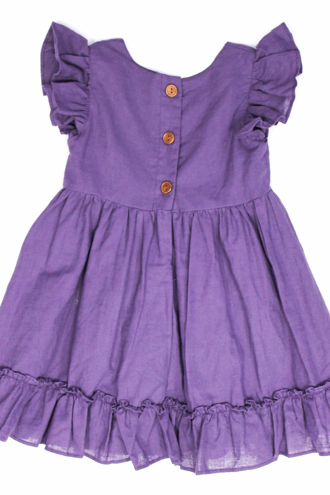 Adora-bay Purple Button Dress - Front Full Image