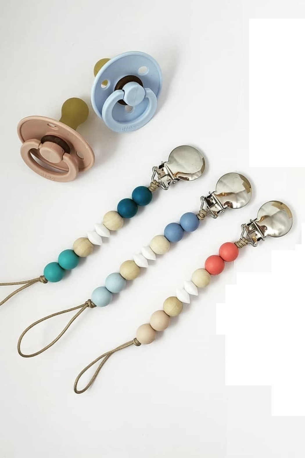 Adora Bibs Pacifier and Clip - Front Cropped Image