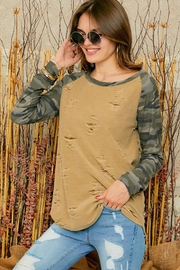 Adora Crew-Neck Contrast Long Sleeve Top - Other