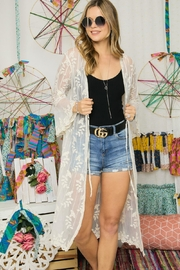 Adora Embroidered Lace Duster Kimono Robe - Other