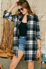 Adora Flannel Lumberjack Checkered Plaid Work Shirt Jacket Shacket - Product Mini Image