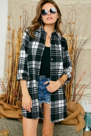 Adora Flannel Lumberjack Checkered Plaid Work Shirt Jacket Shacket - Side cropped