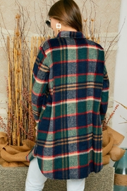 Adora Flannel Lumberjack Checkered Plaid Work Shirt Jacket Shacket - Other