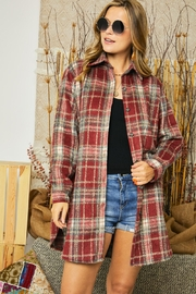 Adora Flannel Lumberjack Plaid Work Shirt Jacket Shacket - Product Mini Image